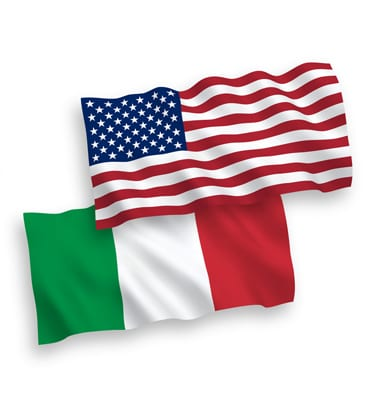 USA-ITALIA-Bandiera